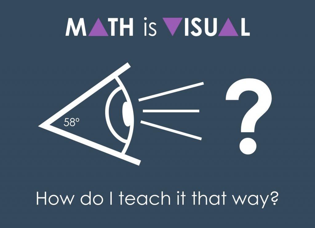 Math Is Visual Header - How do I teach it that way?