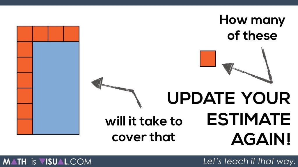 Math Is Visual - Area of a Rectangle Visual Prompts.091 update your estimate