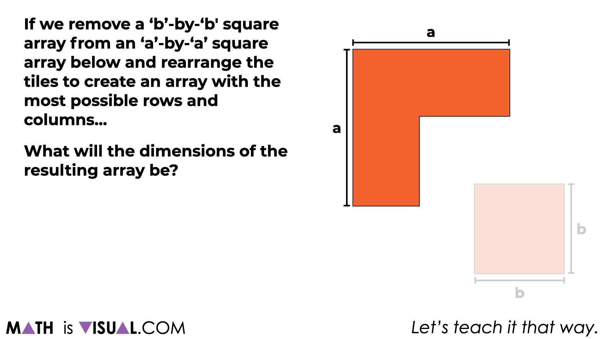 Difference of Squares.091 difference of squares algebraically